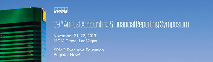 KPMG Learning Executive Annual Accounting and Financial Reporting Symposium